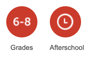 Grades 6-8 and Afterschool Icons